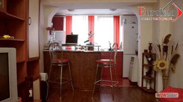 Расширение кухни за сечет балкона